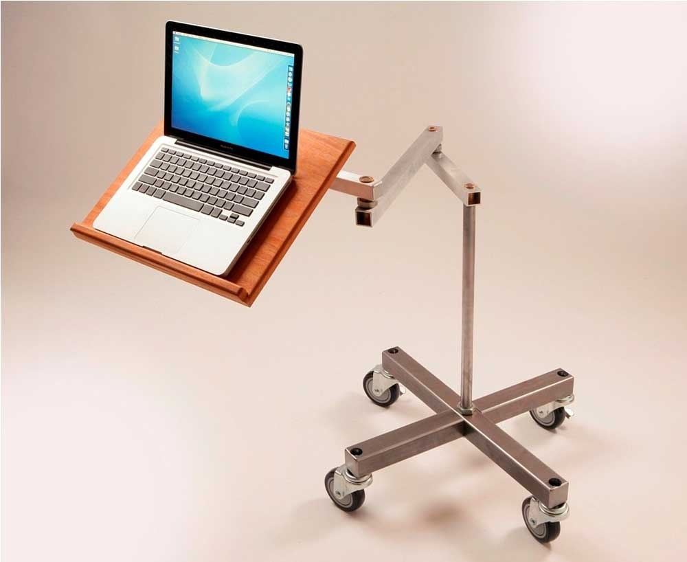 Cantilevered Swings Away Laptop Desk