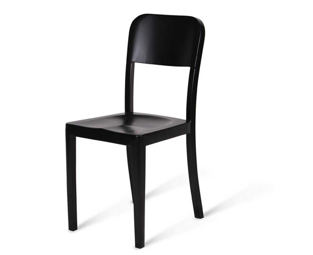 Comfortable Aluminum Black Side Chair