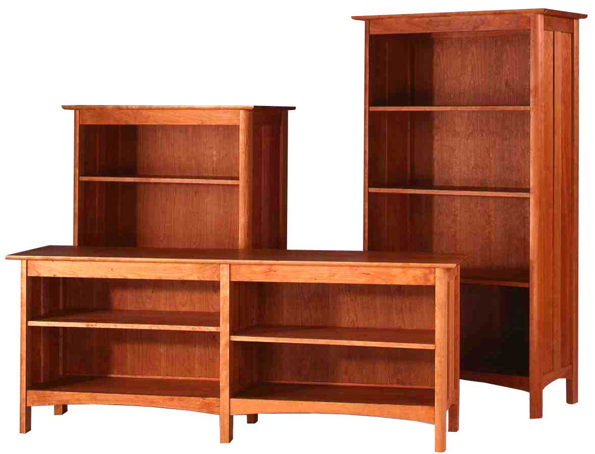 Custom solid wood bookcases collection