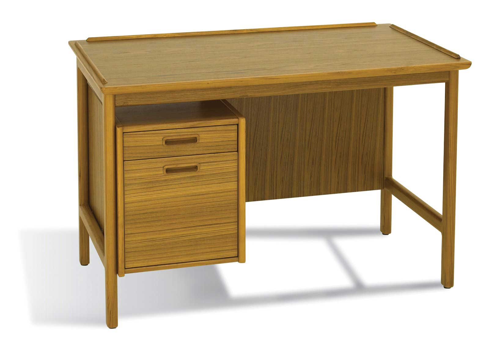 Danish Solid Walnut Computer Desk in Mid Century Style