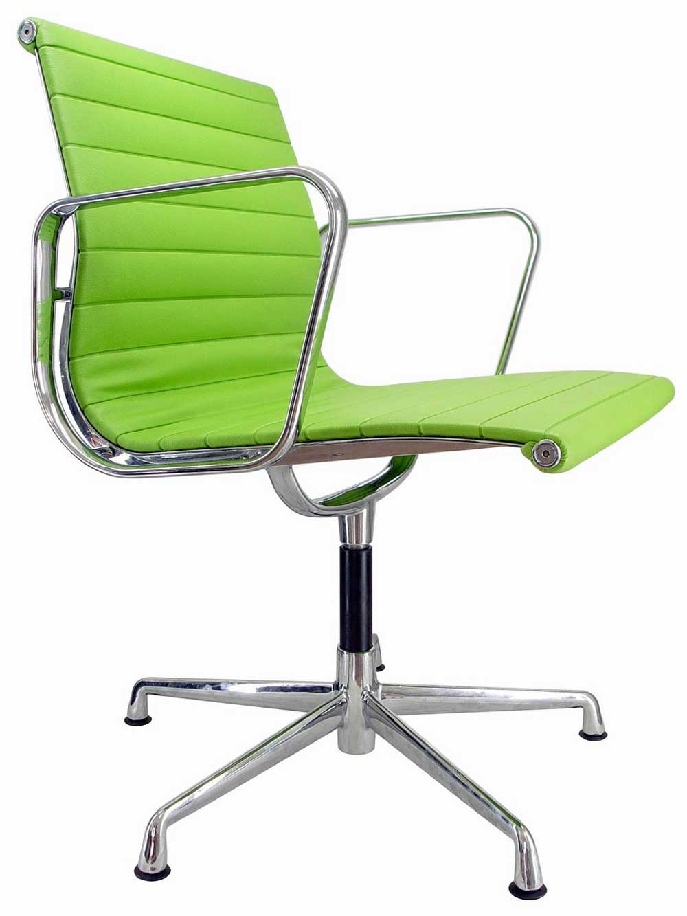 Eames Aluminum Group Green Side Chair