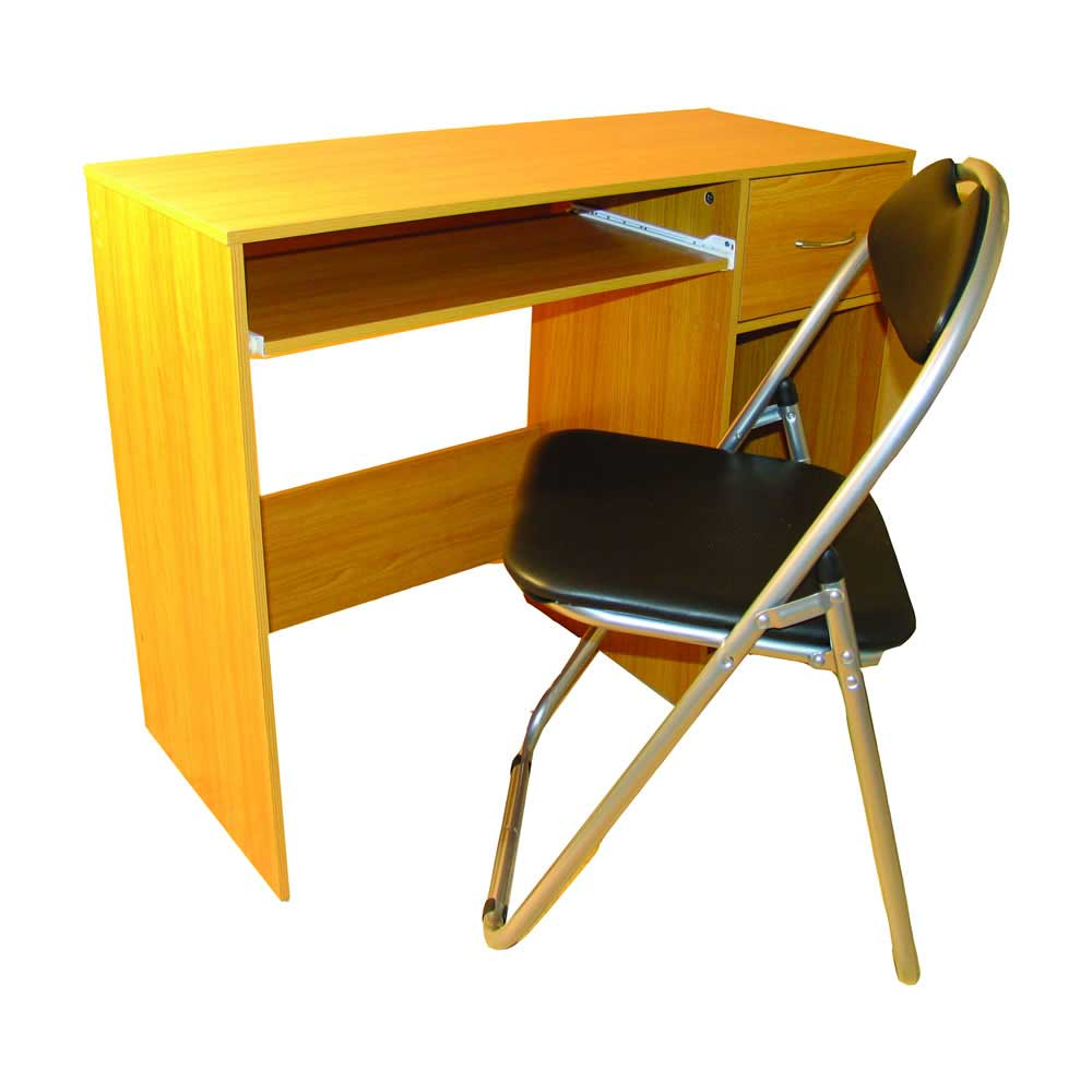 Economical office computer desk and chair set