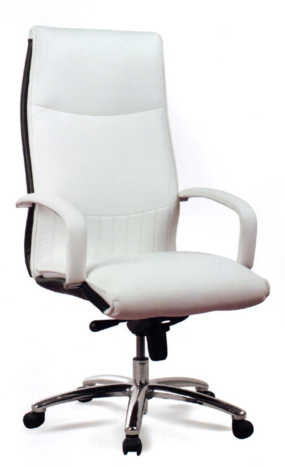 Ergonomic executive white leather office chair