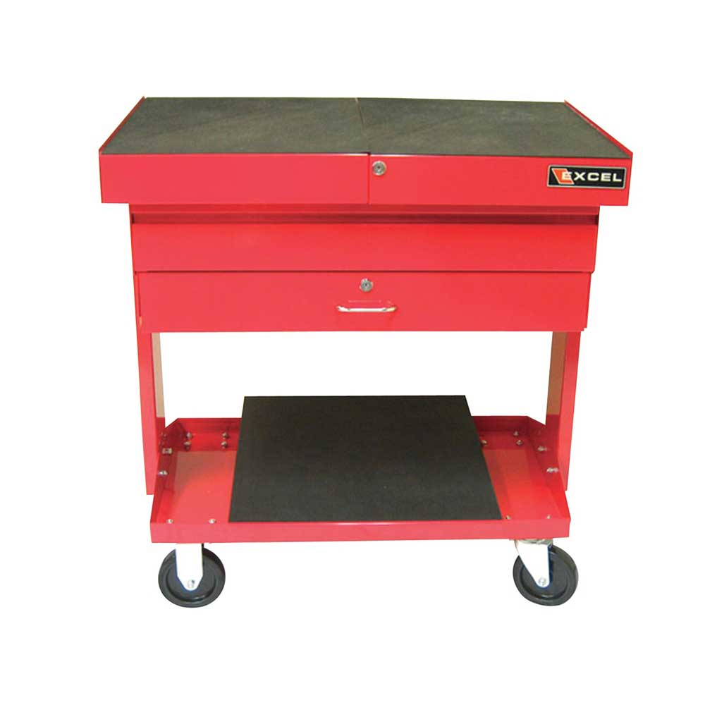 Excel Metal Transformable Red Rolling Work Station