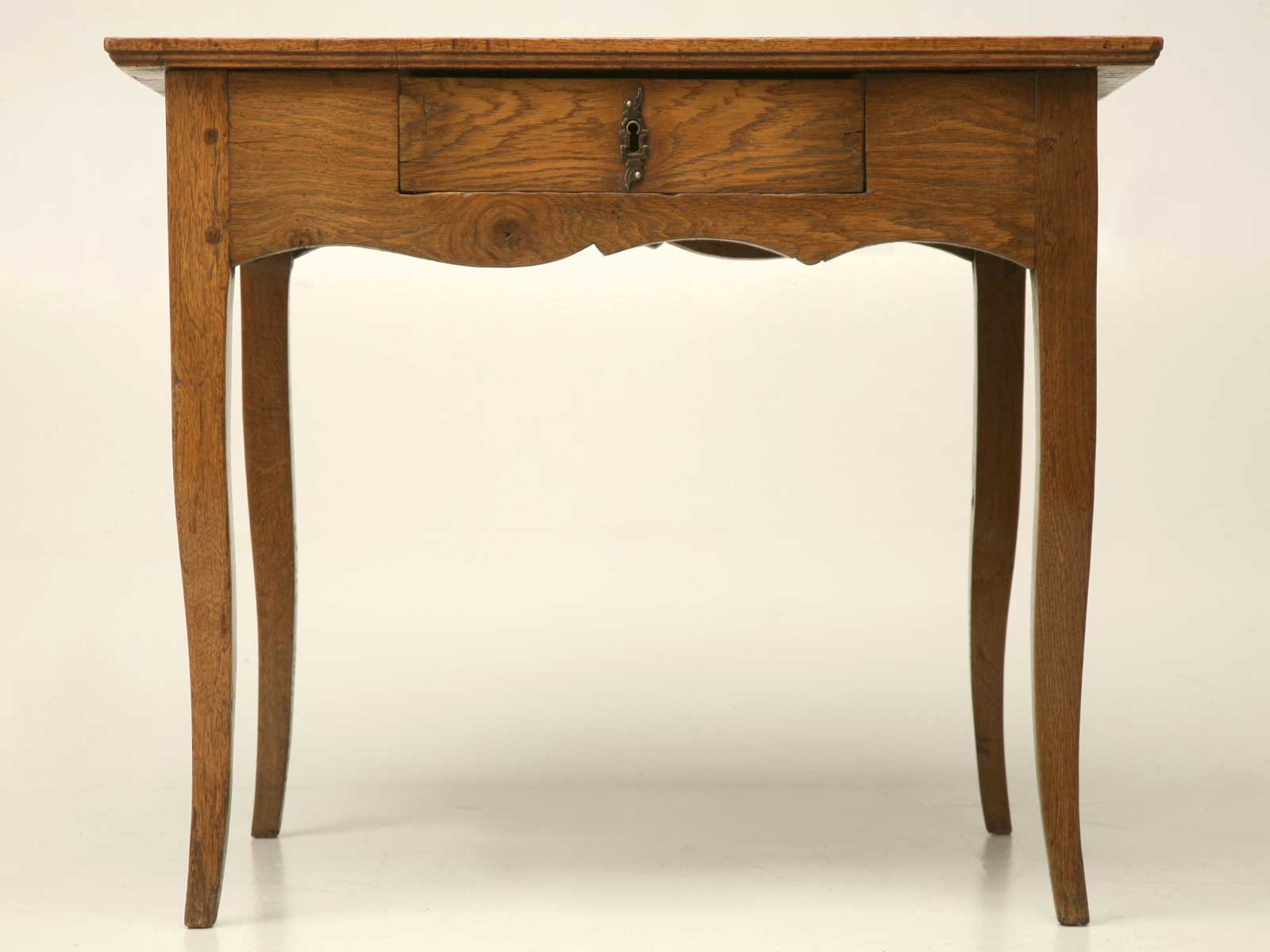 French White Antique Handcrafted Oak Desk
