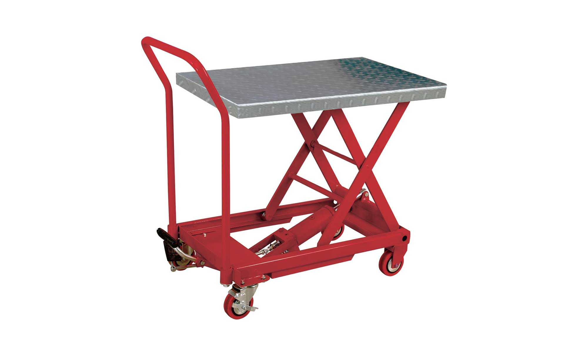 Hydraulic rolling table cart