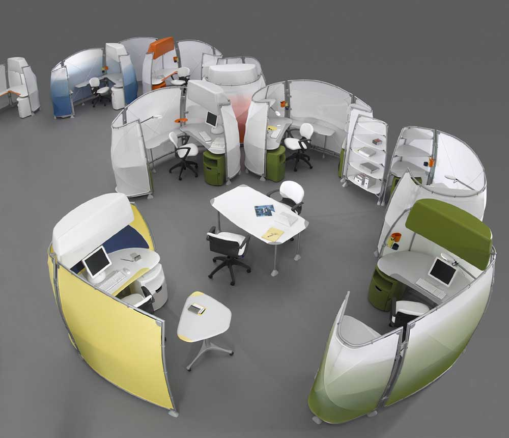 Knoll Modern Configurable Office Cubicle systems