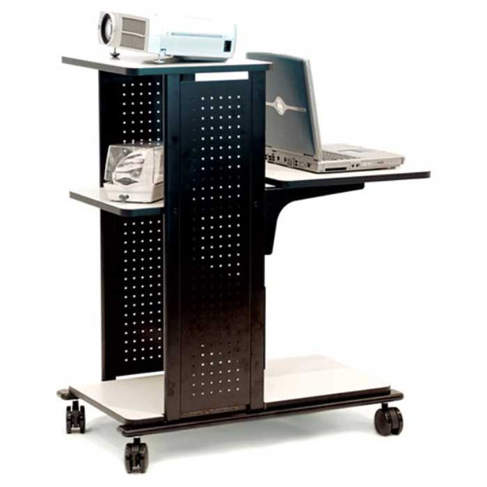 Luxor Mobile Metal Laptop Cart and Presentation