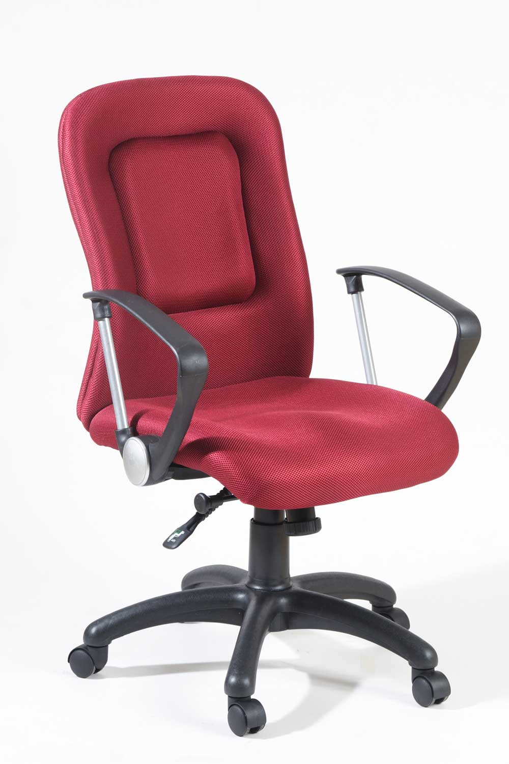 Luxury red office chair in ergonomic design