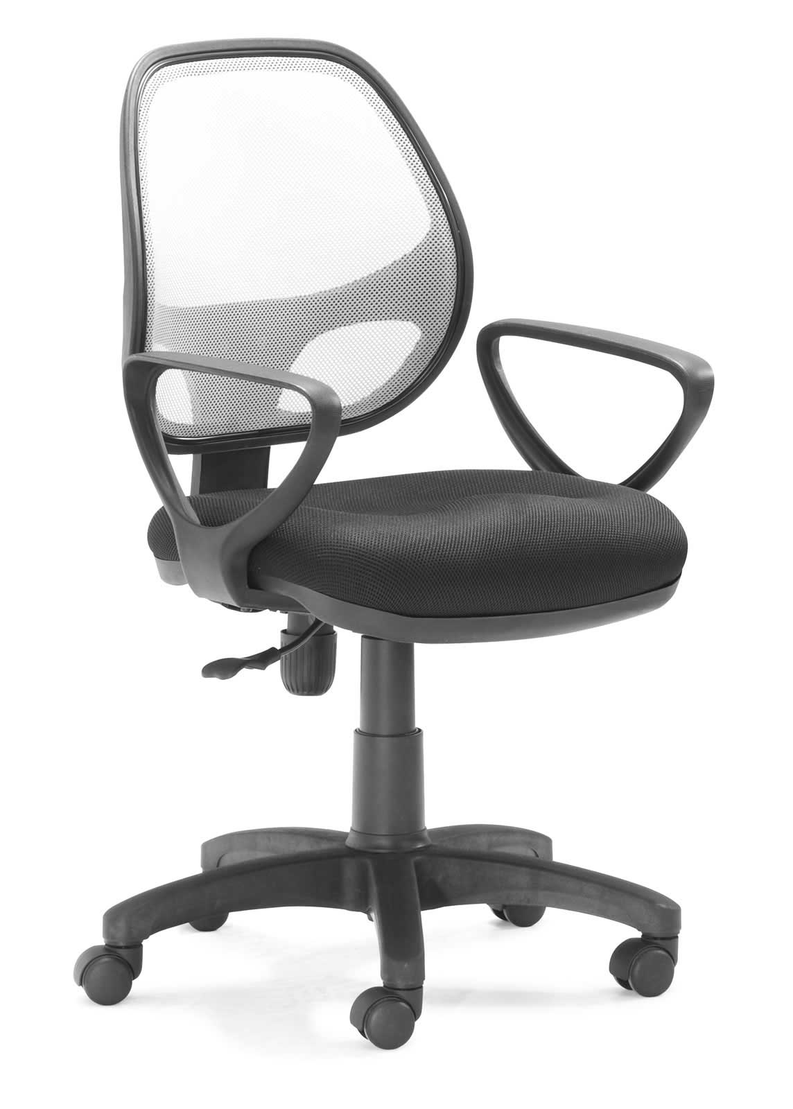 Mesh back adjustable task chair with arms
