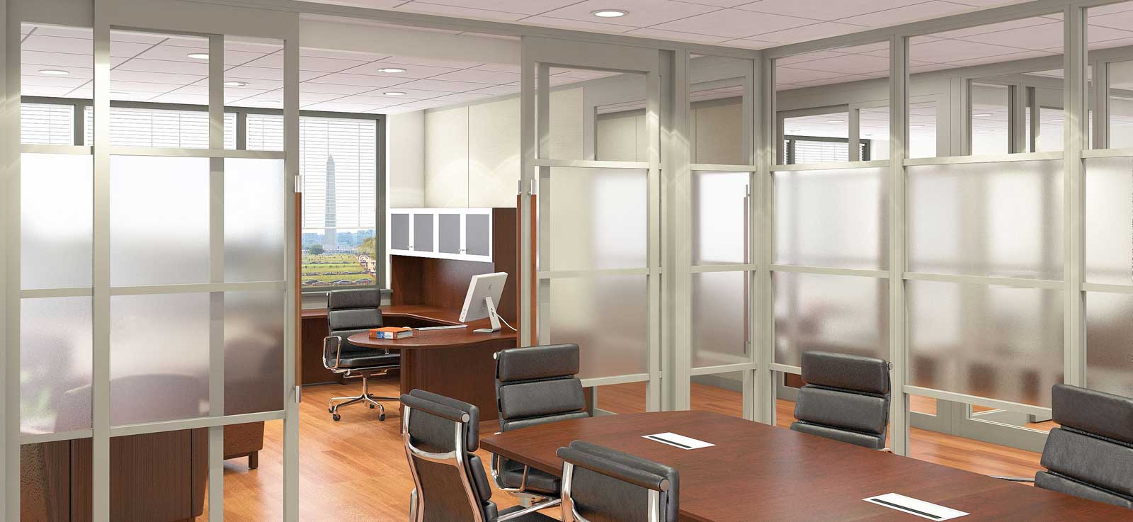 Nello contemporary flexible office walls separator design