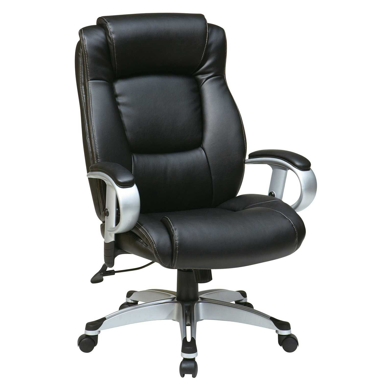 Office Star Leather Seating with Adjustable Arms and Height