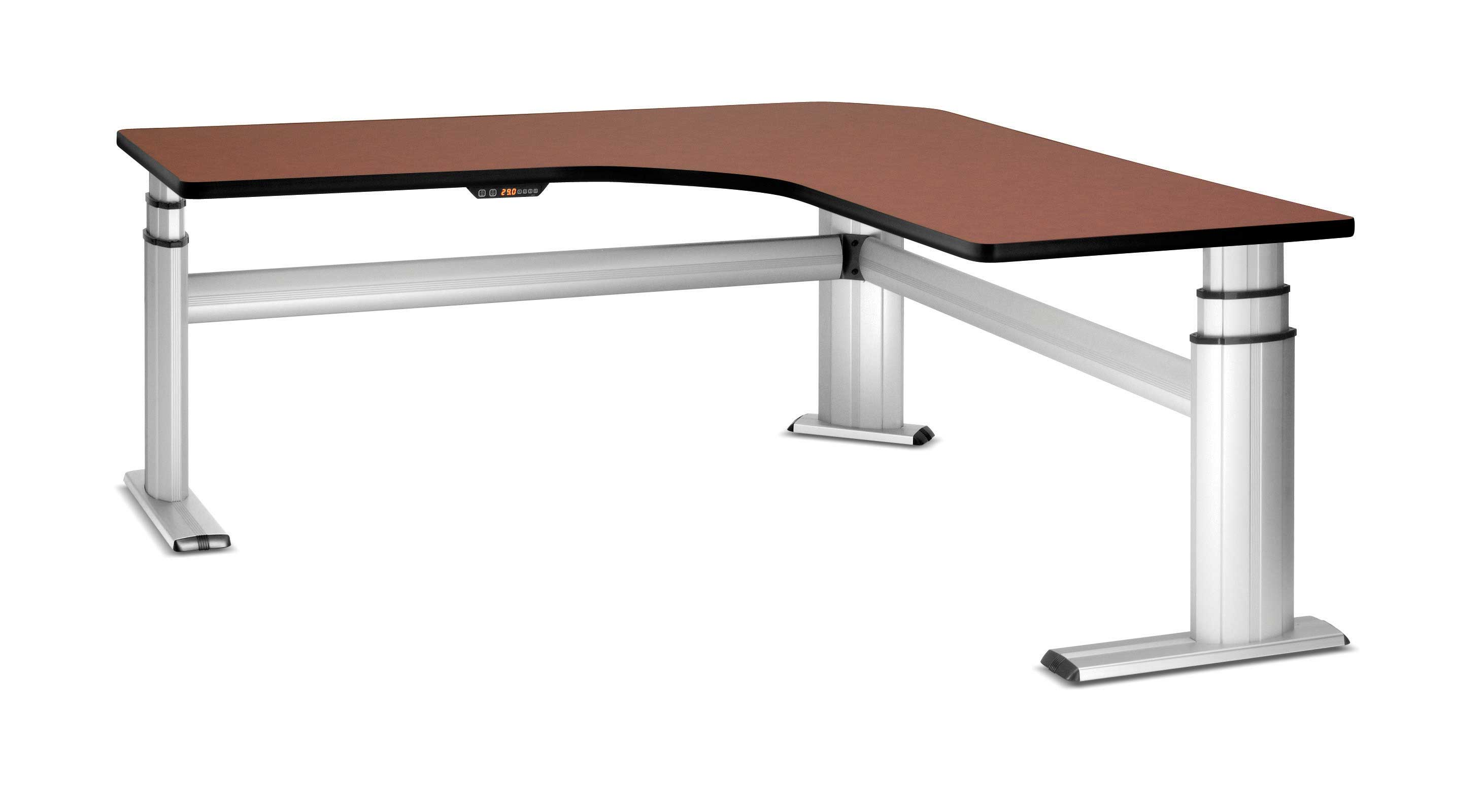Premium adjustable legs corner office desk