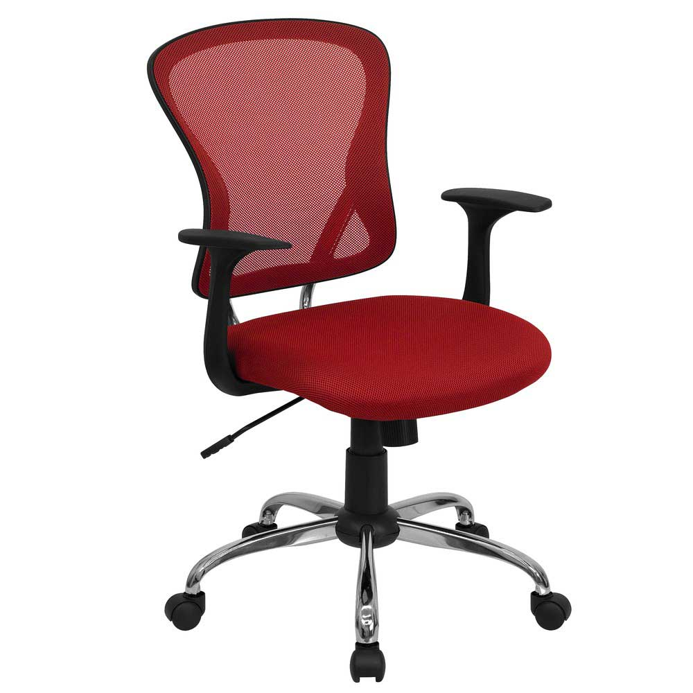 Red Mesh Swivel Office Chair for Executive