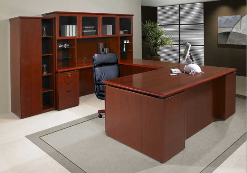 Rudnick Office Furniture Executive Desk and Chair Sets