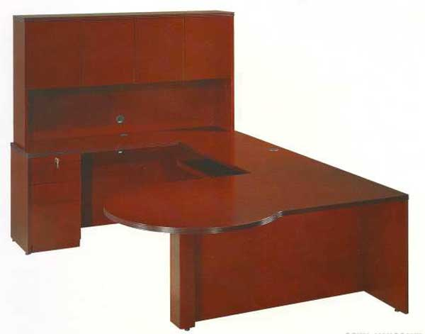 Rudnick home office computer desk with hutch