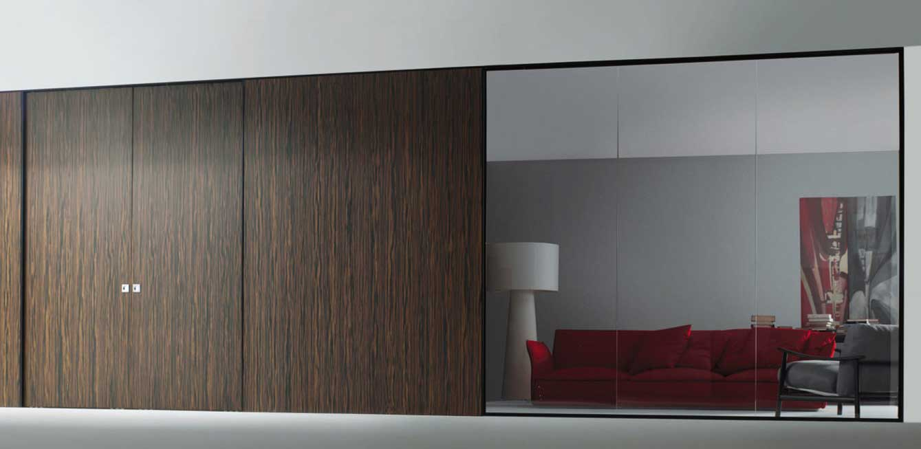 Shift movable modern home office wall system