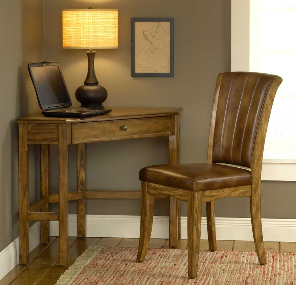 Solano Grand Bay Medium Oak Corner Desk And Chair Sets