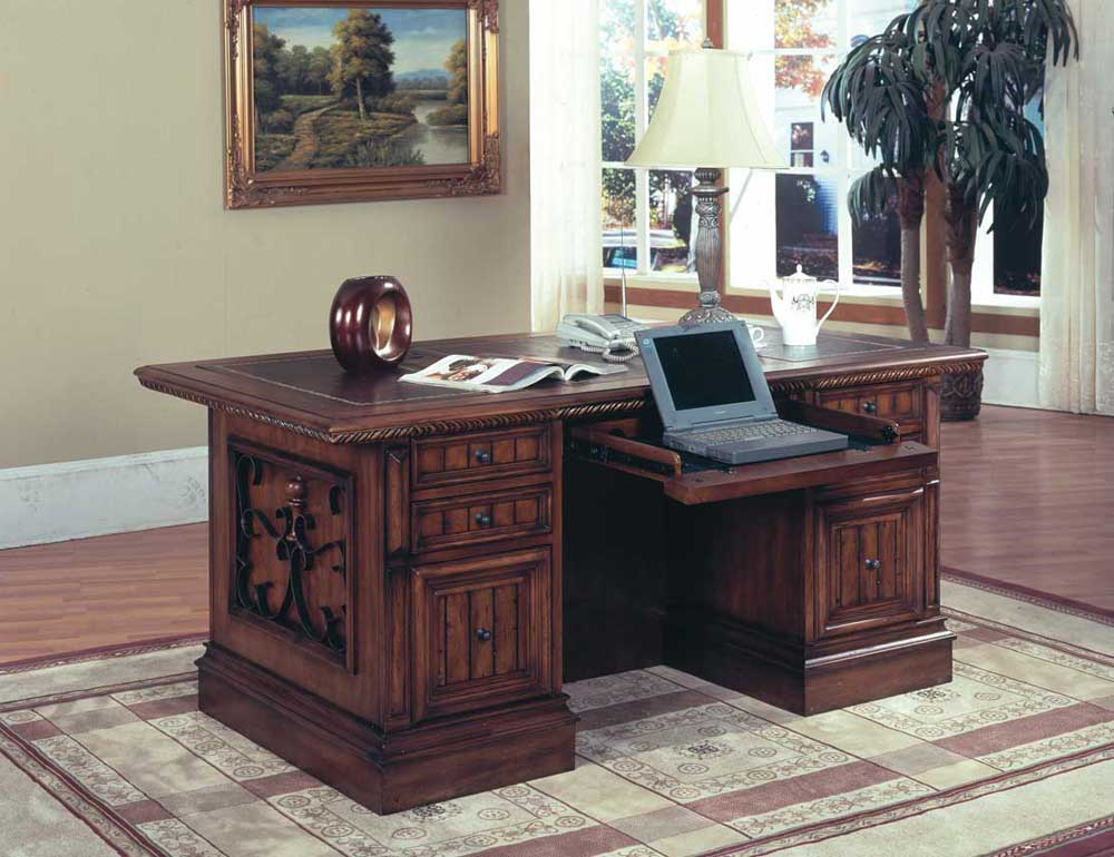 Spanish revival cheap executive desk style