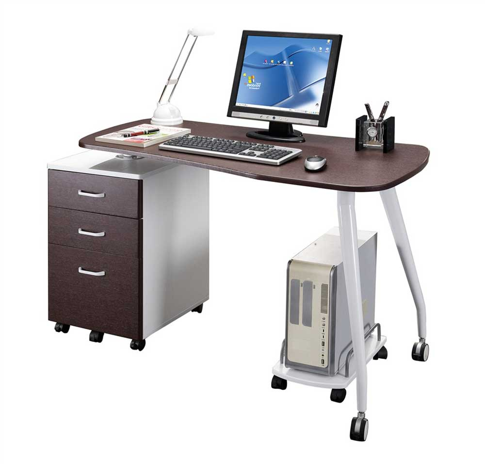 Techni Mobili Home Office Rotating Computer Table