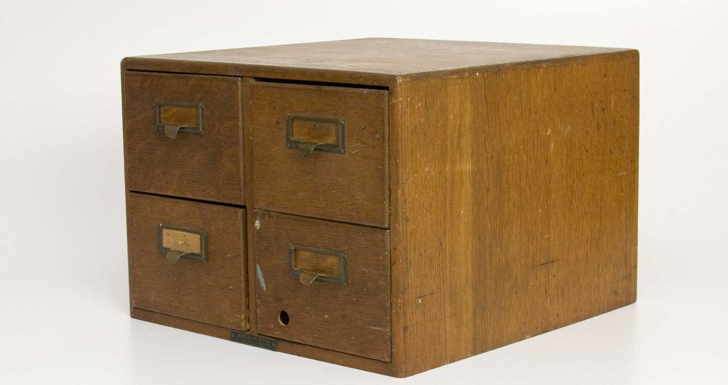 TomLaurus Industrial Classic Oak Filing Cabinet with 4 Drawer