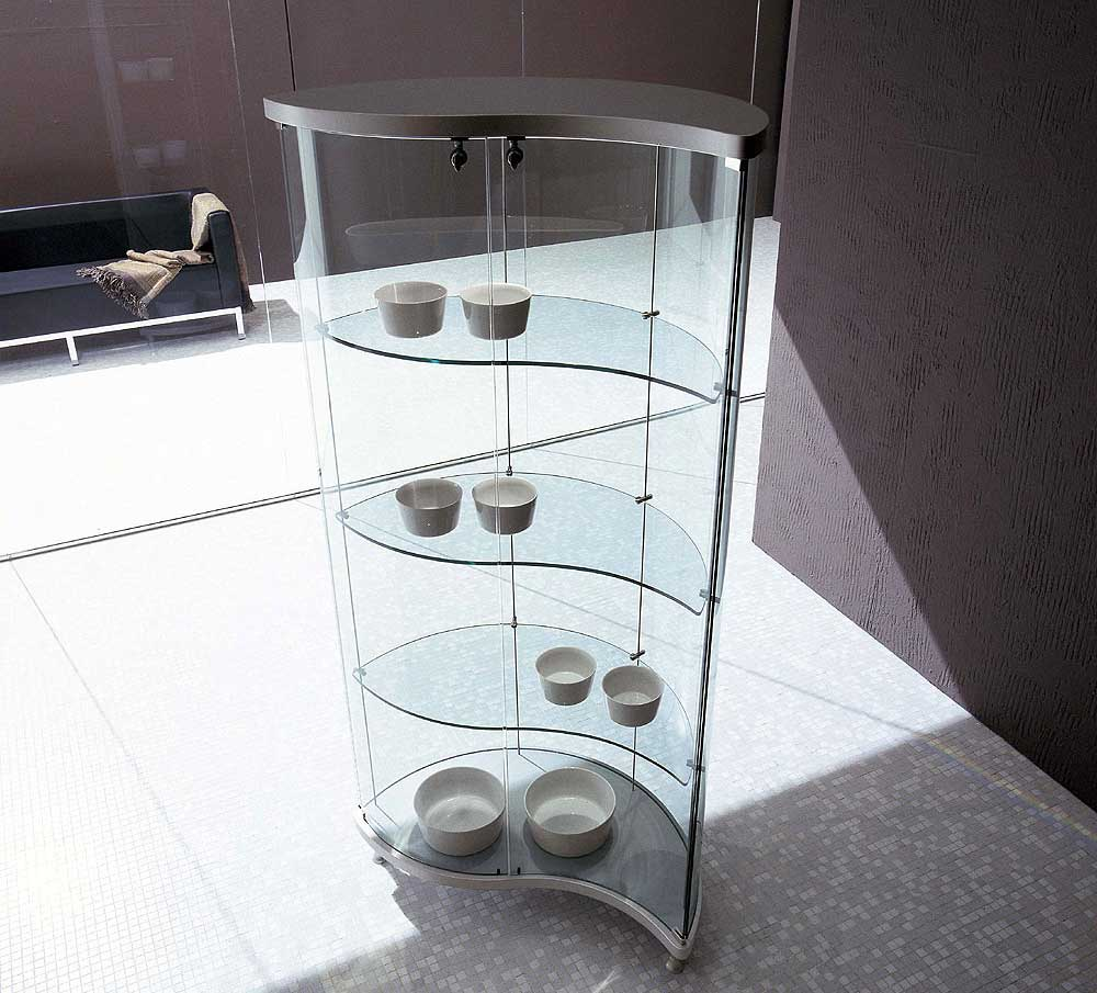Tonin Casa glass contemporary curio cabinets
