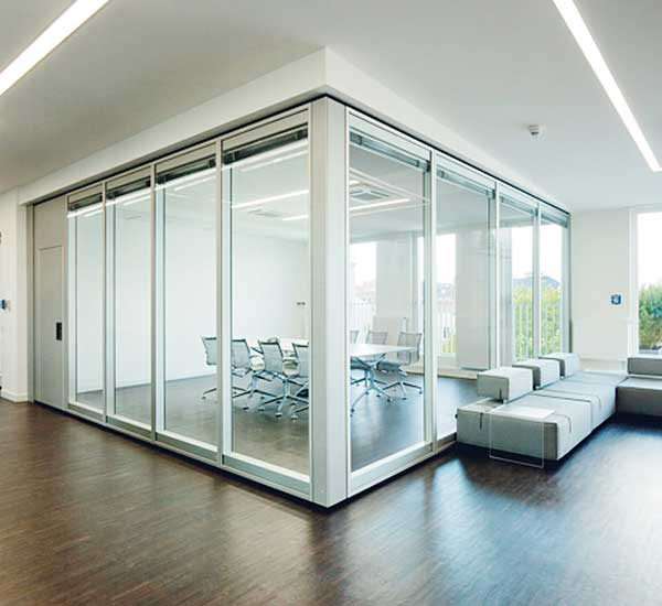 Transparent glass acoustic insulation room dividers