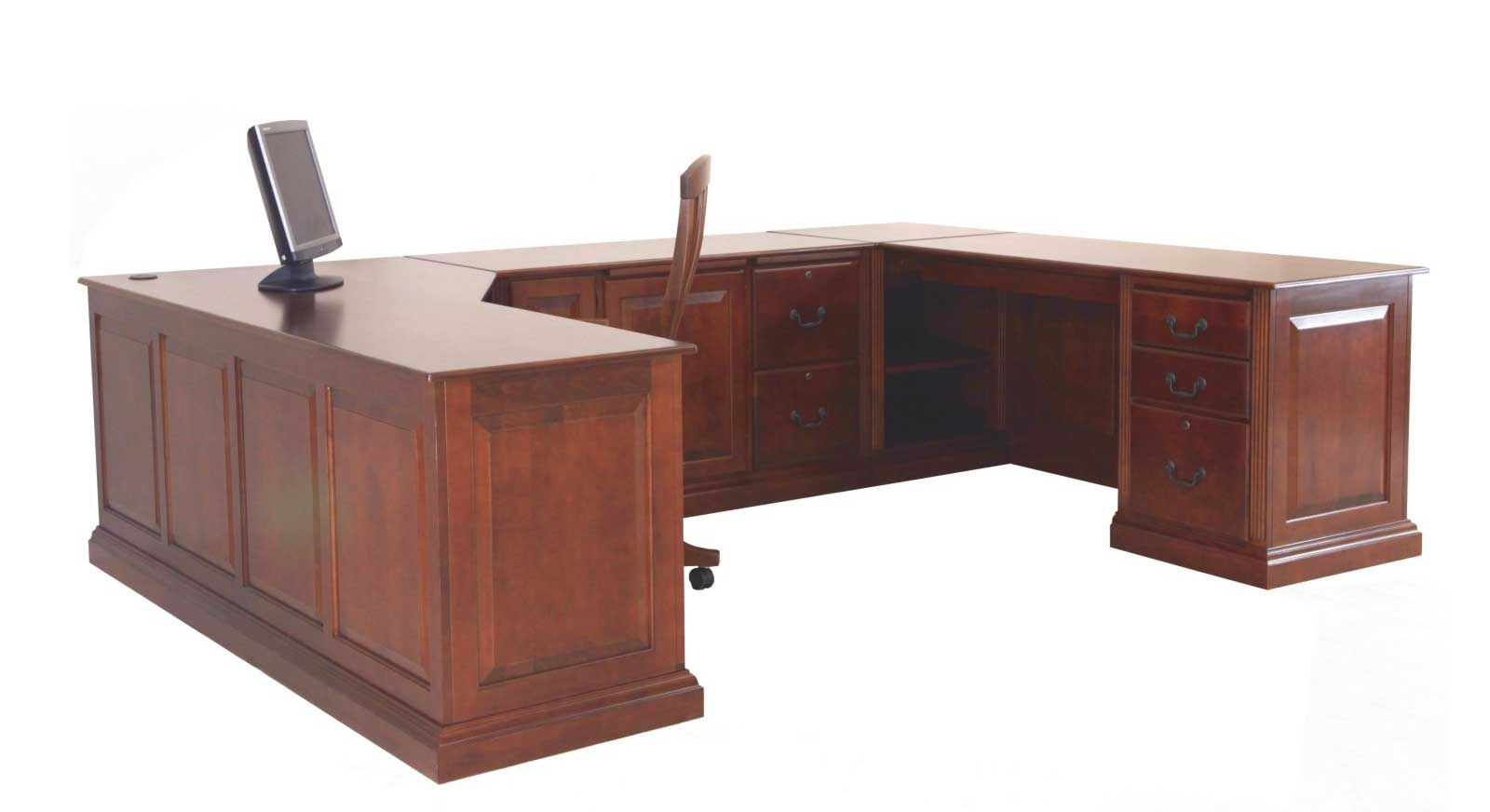 U-shaped home office executive computer desk