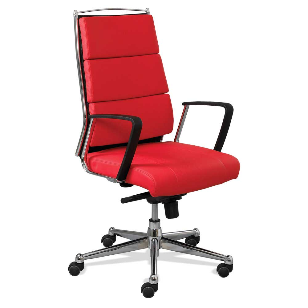 adjustable synchro mechanism red office chairs with lumbar support