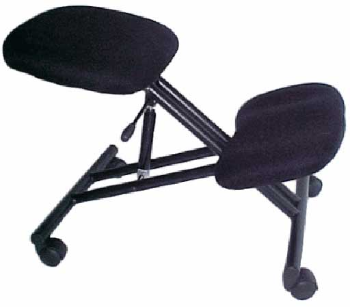 black orthopedic office chair