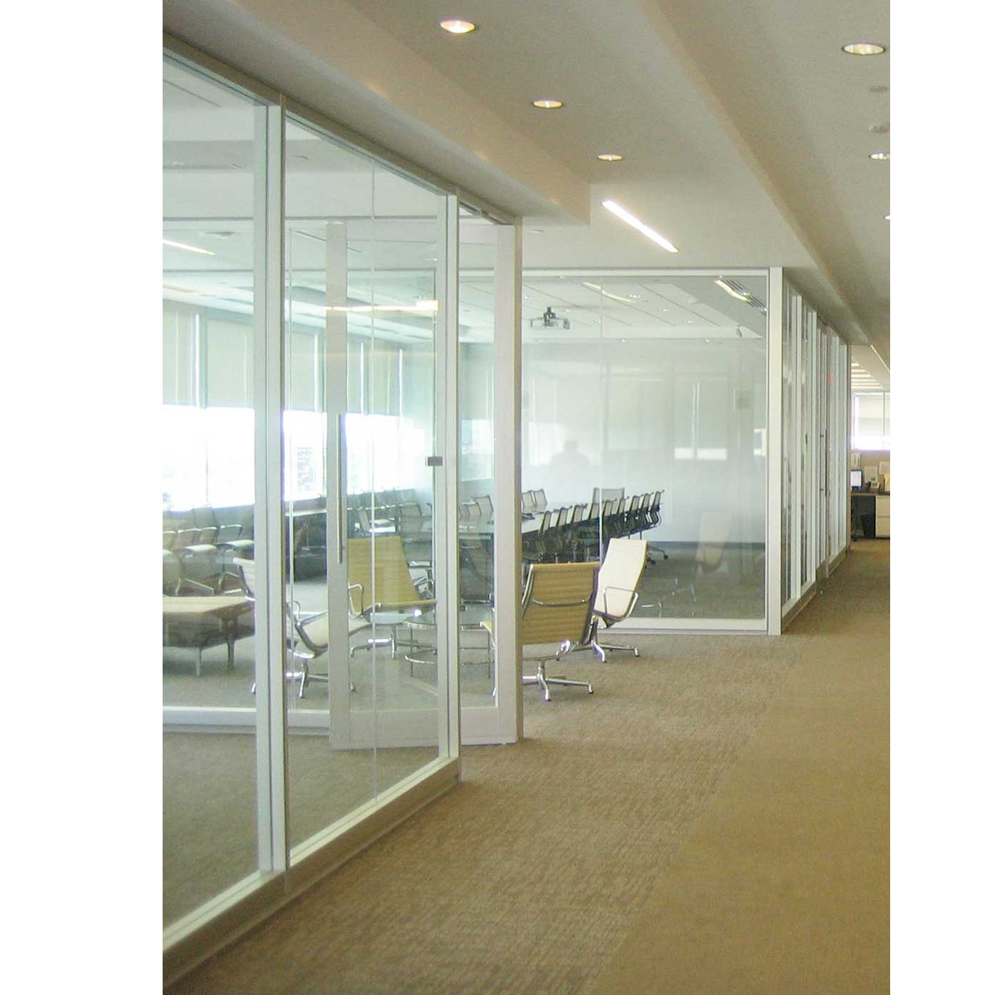 commercial office doors with clear glass panel
