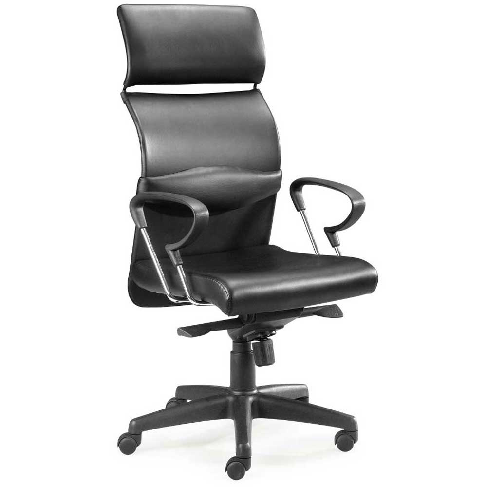 ergonomic black leather high end office chairs