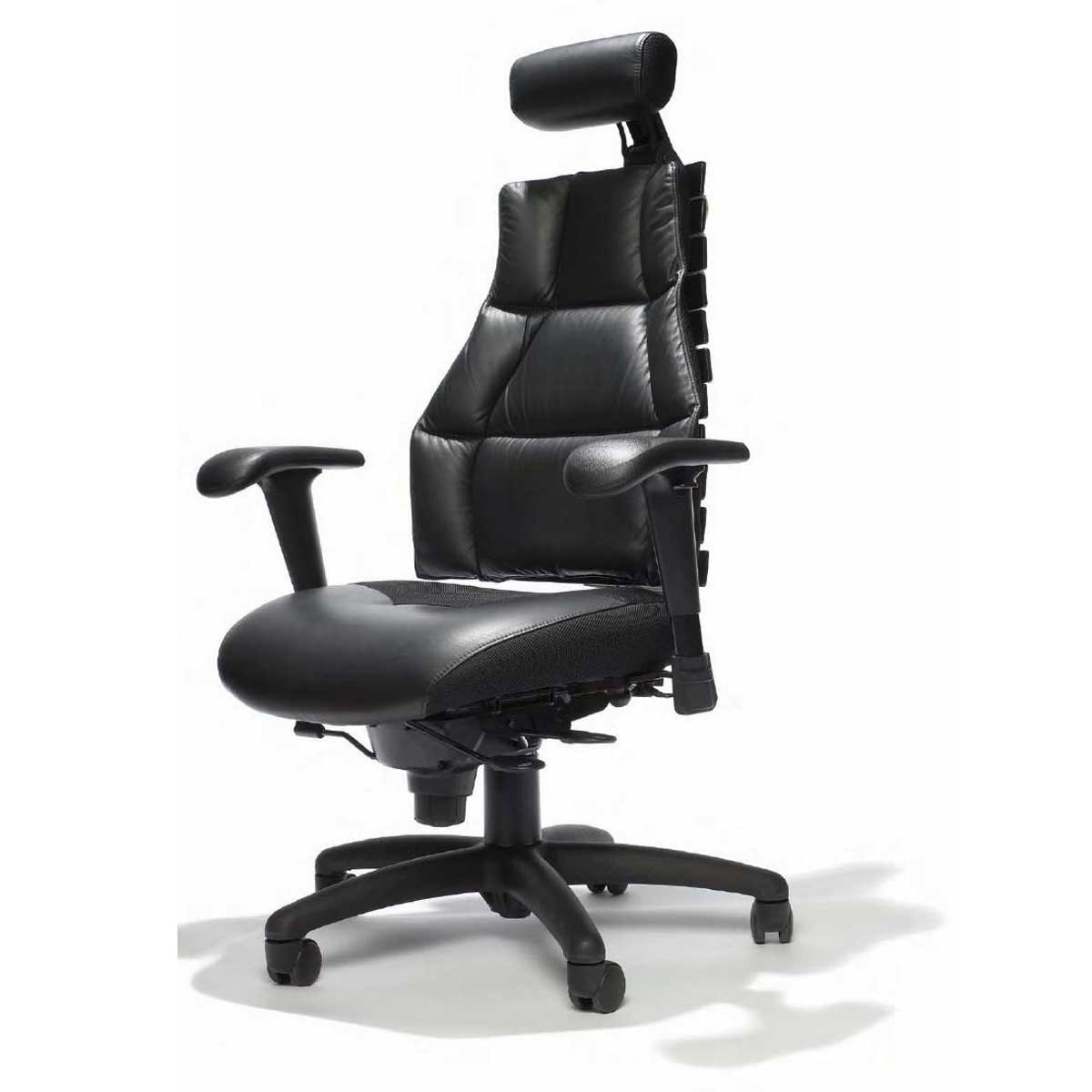 high back expensive black leather office chairs