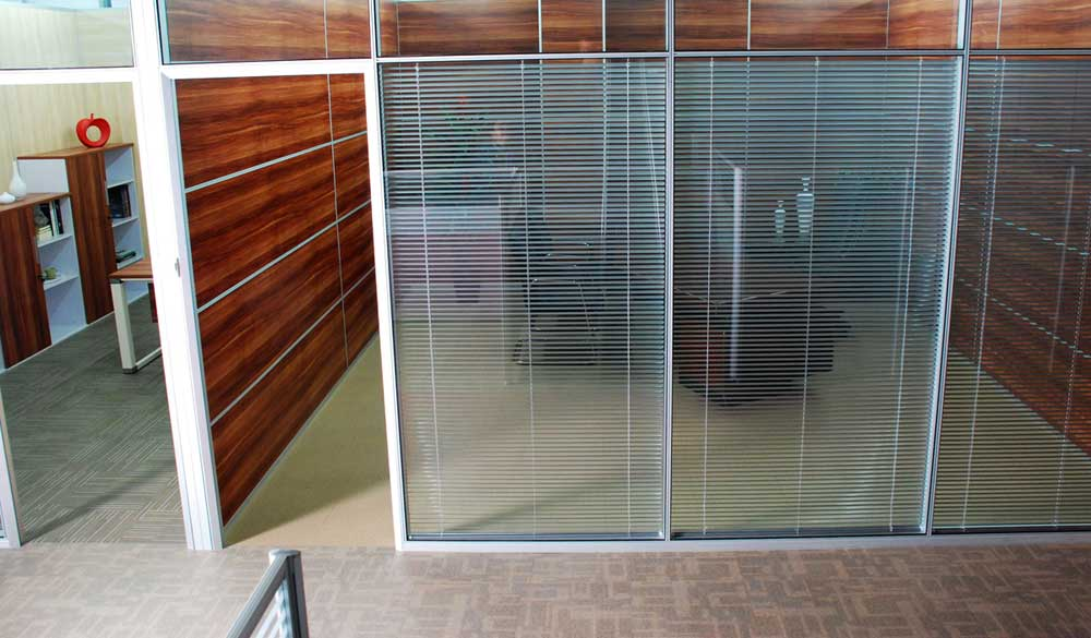 sliding glass movable office walls