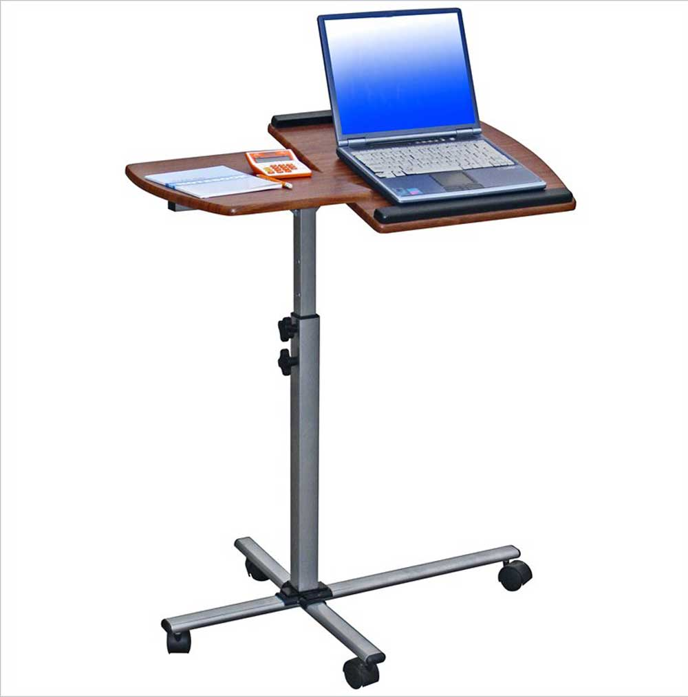 techini mobili ventura mahogany laptop mobile desk