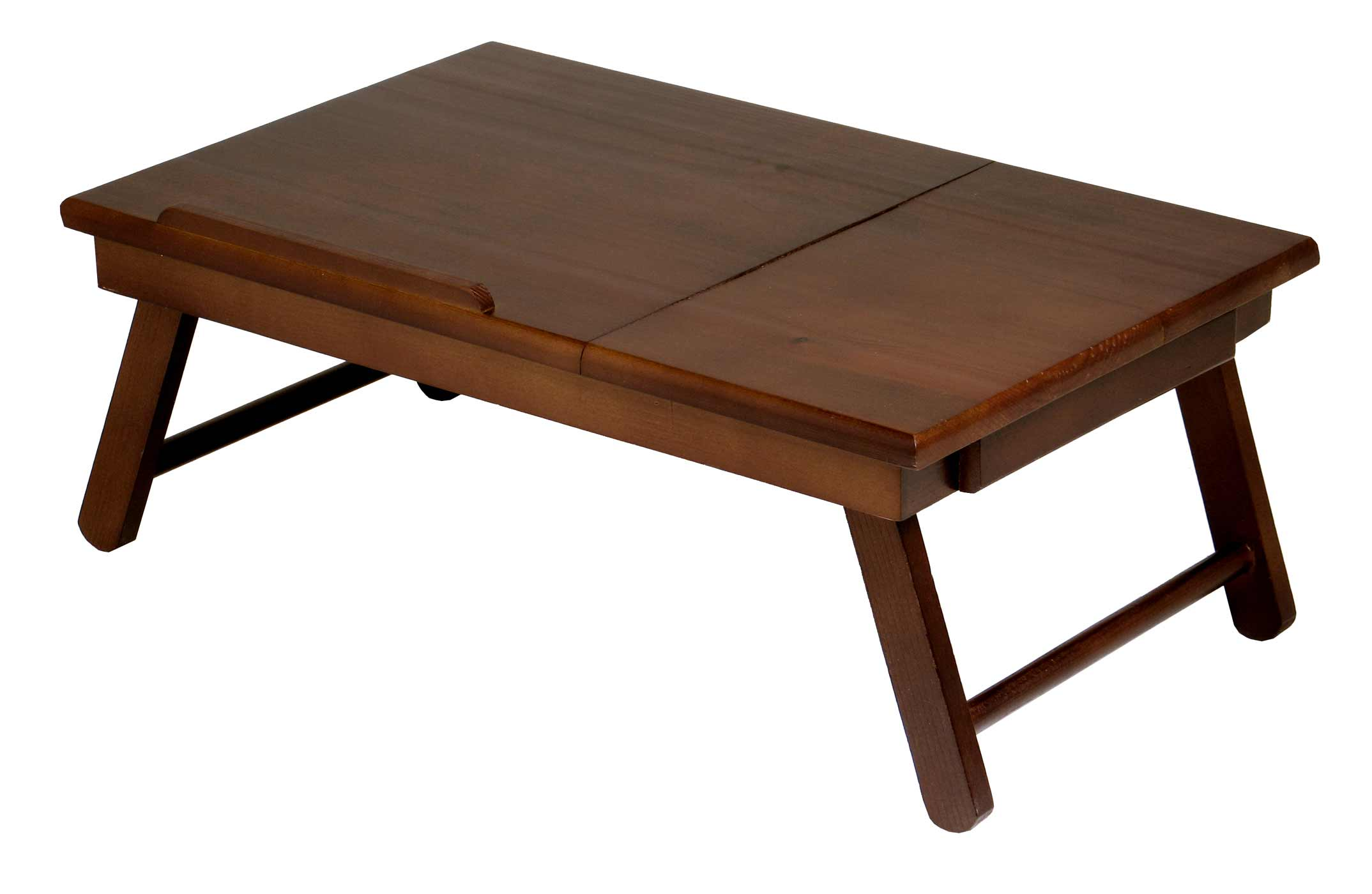 Alden solid wood portable laptop table