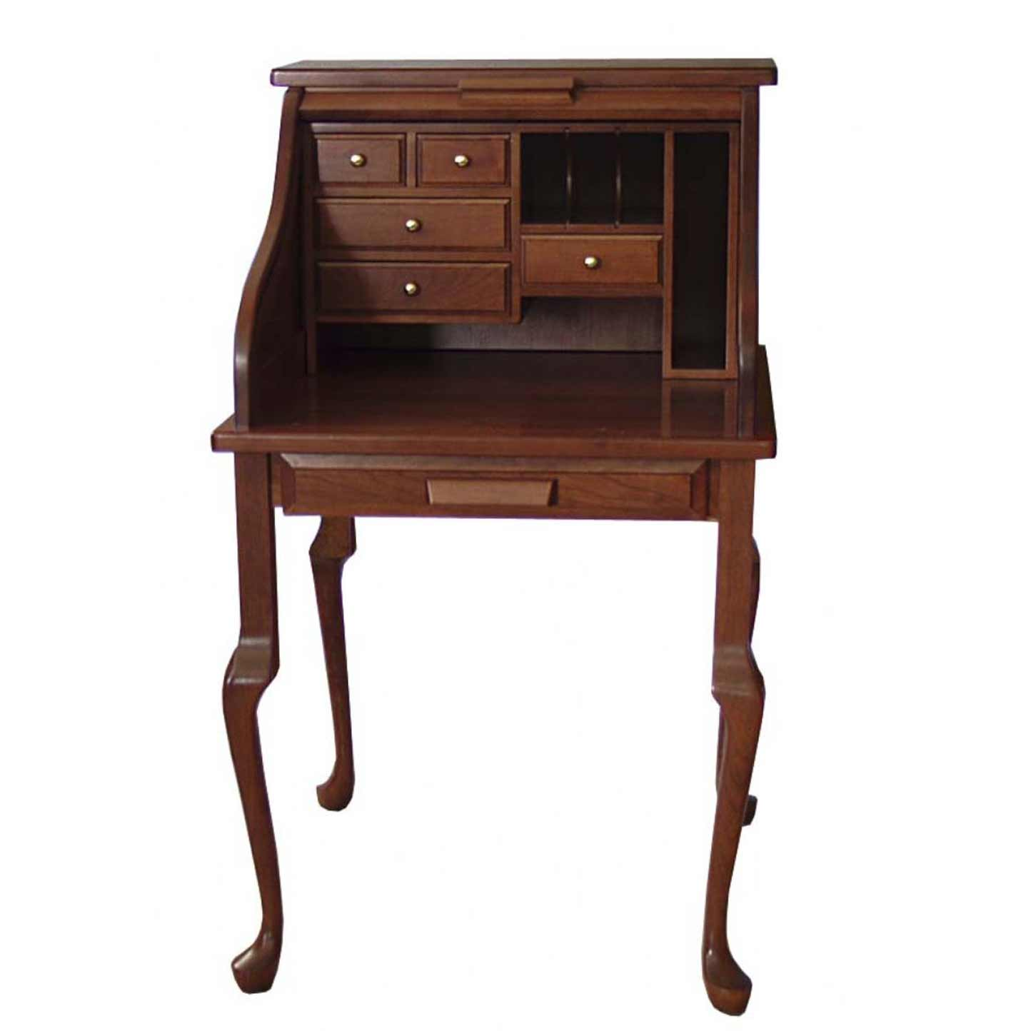 Amish roll top classic secretary furniture desk
