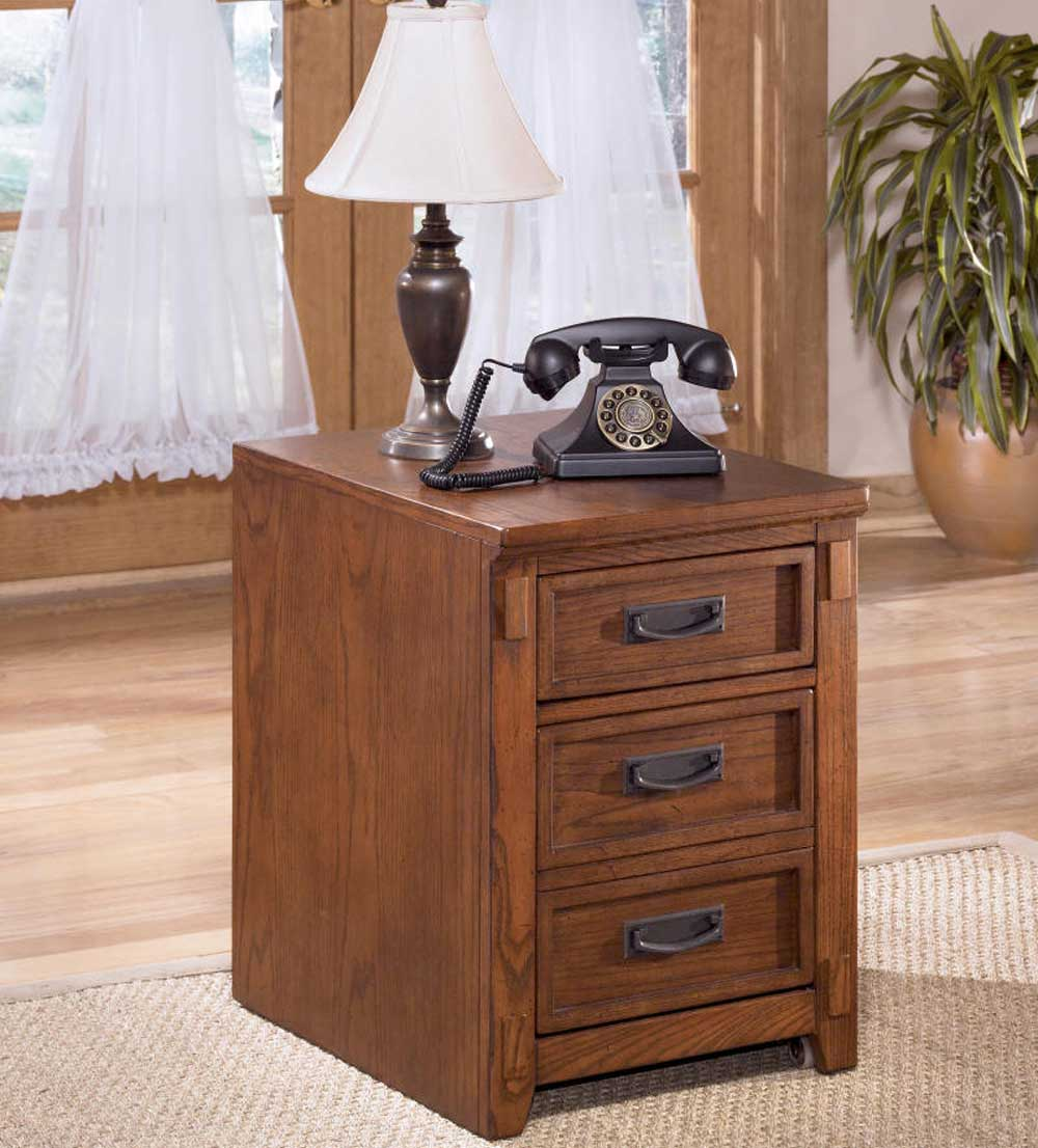 Ashle Solid Wood Three Drawer Home Office Filing Cabinet