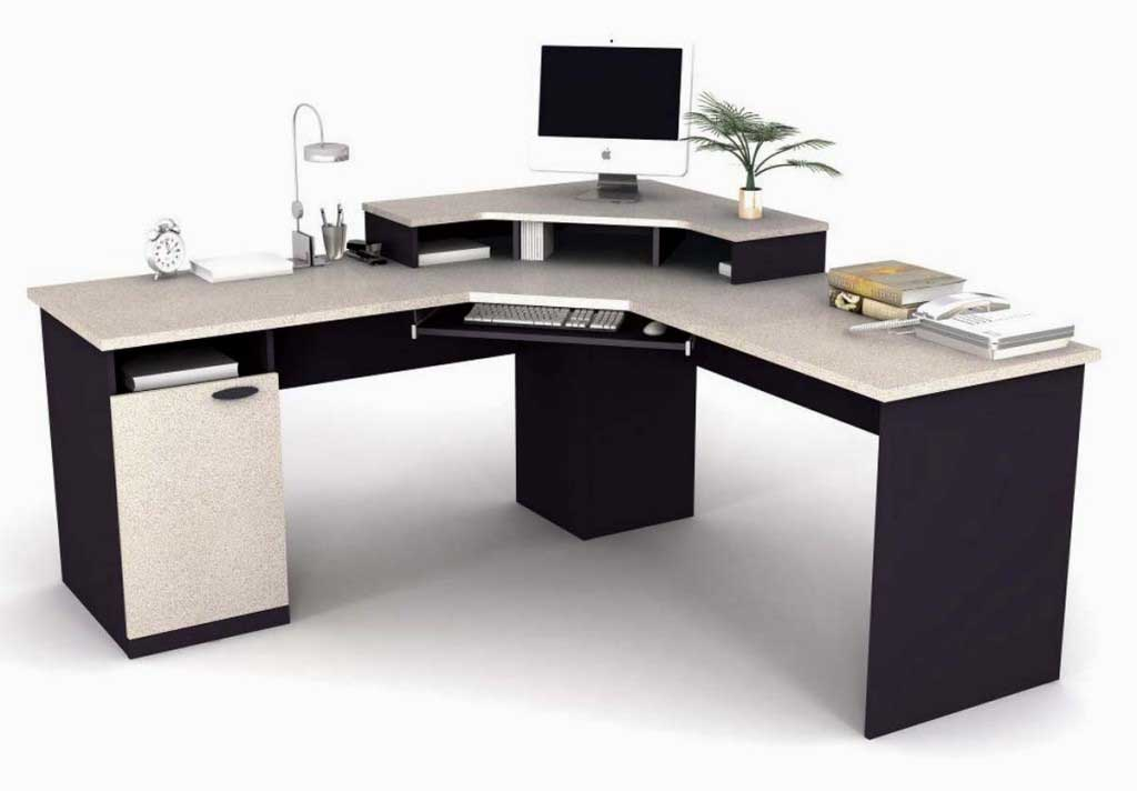 Bestar modern black white office corner desks