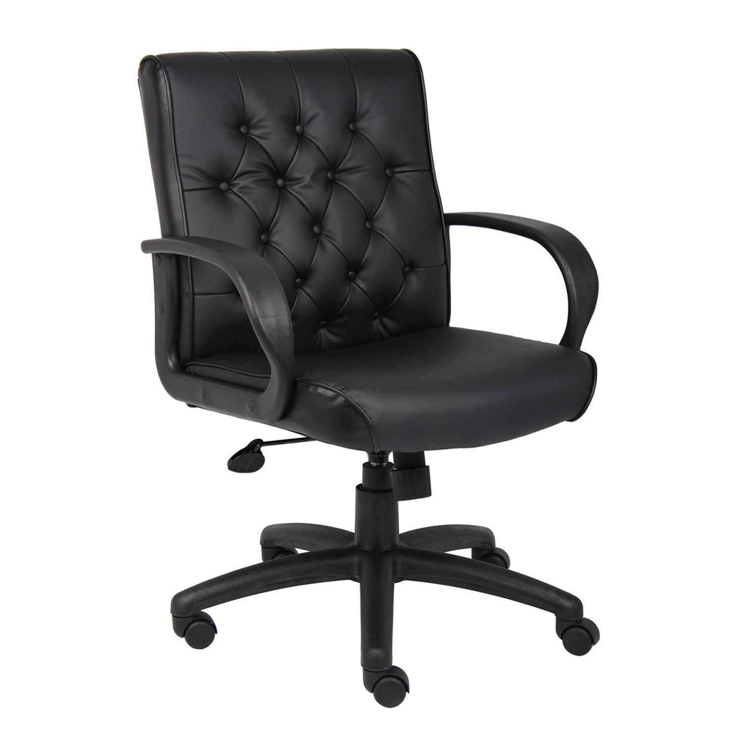 Boss black leather large office chair