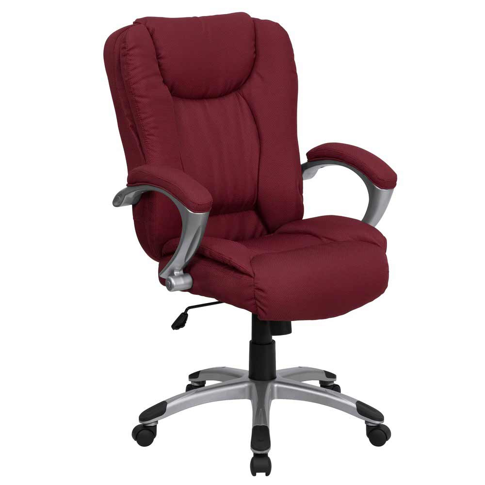 Burgundy High Back Padded Ergonomic Luxury Office Chair