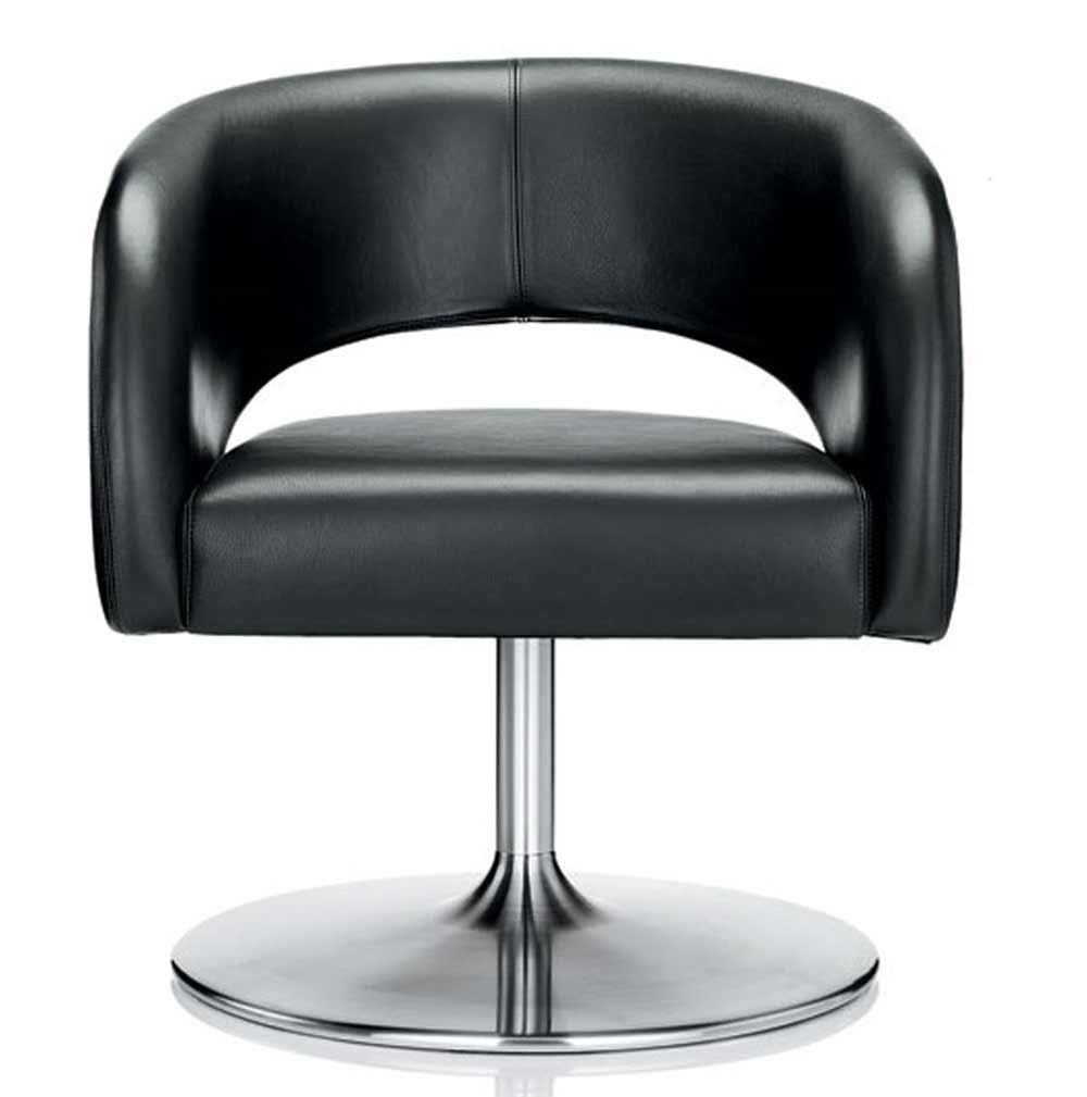 Choo classic black leather chicago office chairs