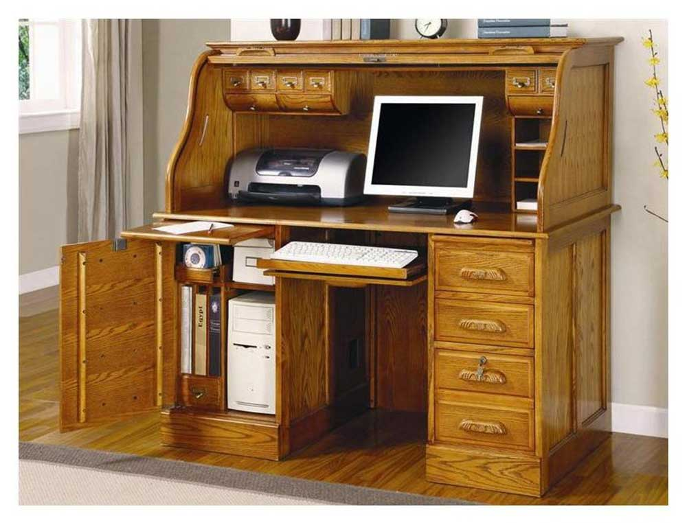 Coaster deluxe cherry home office computer armoire