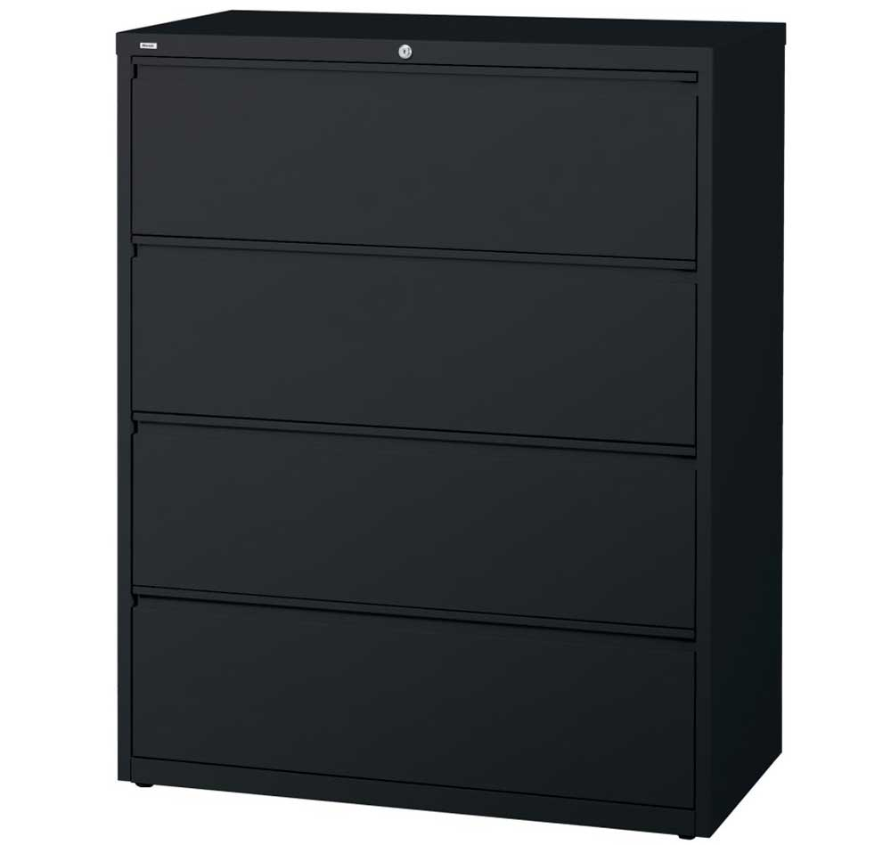 Commercial grade home office solid black filing cabinet