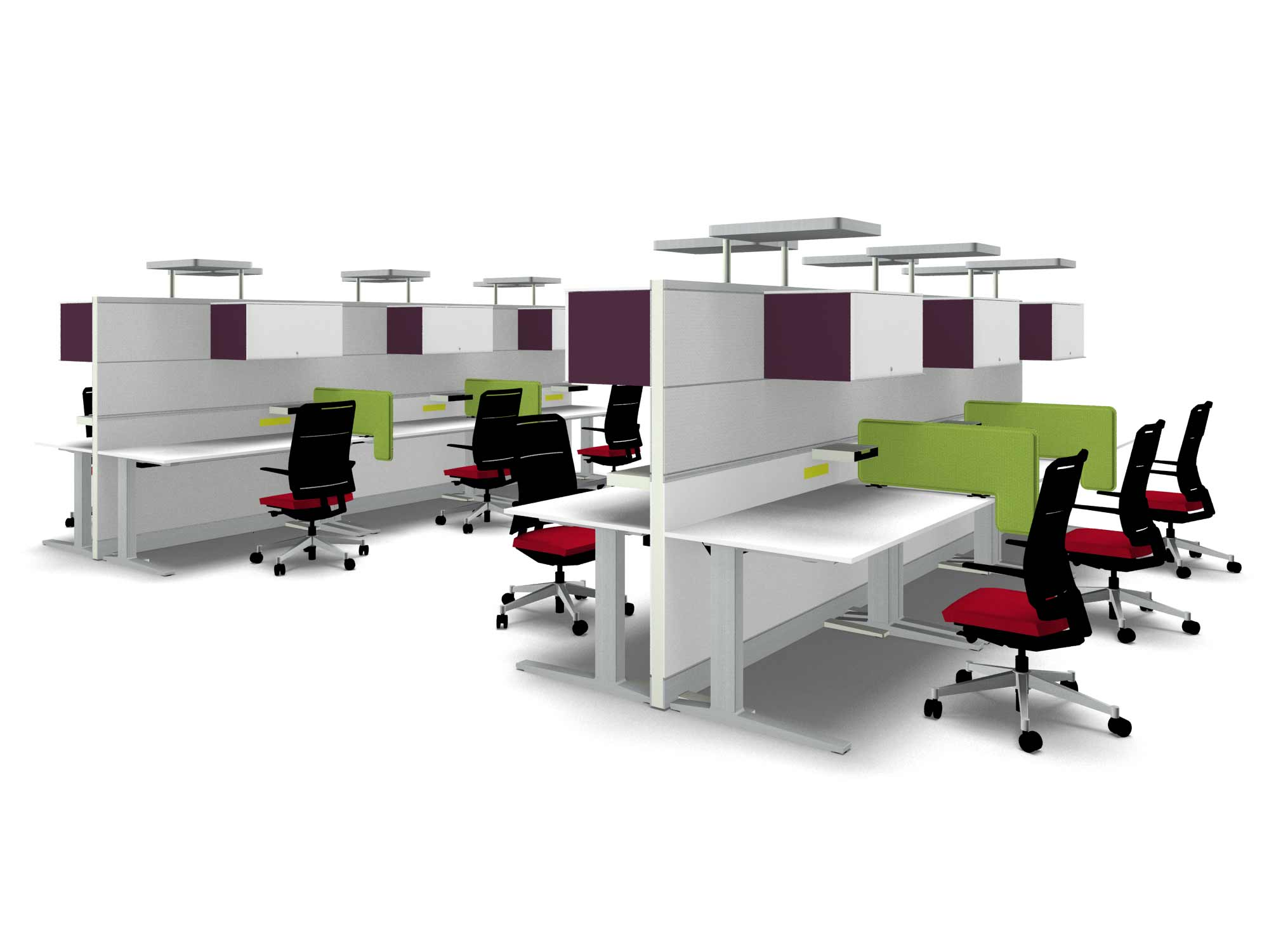 Connection contemporary modular office cubicle