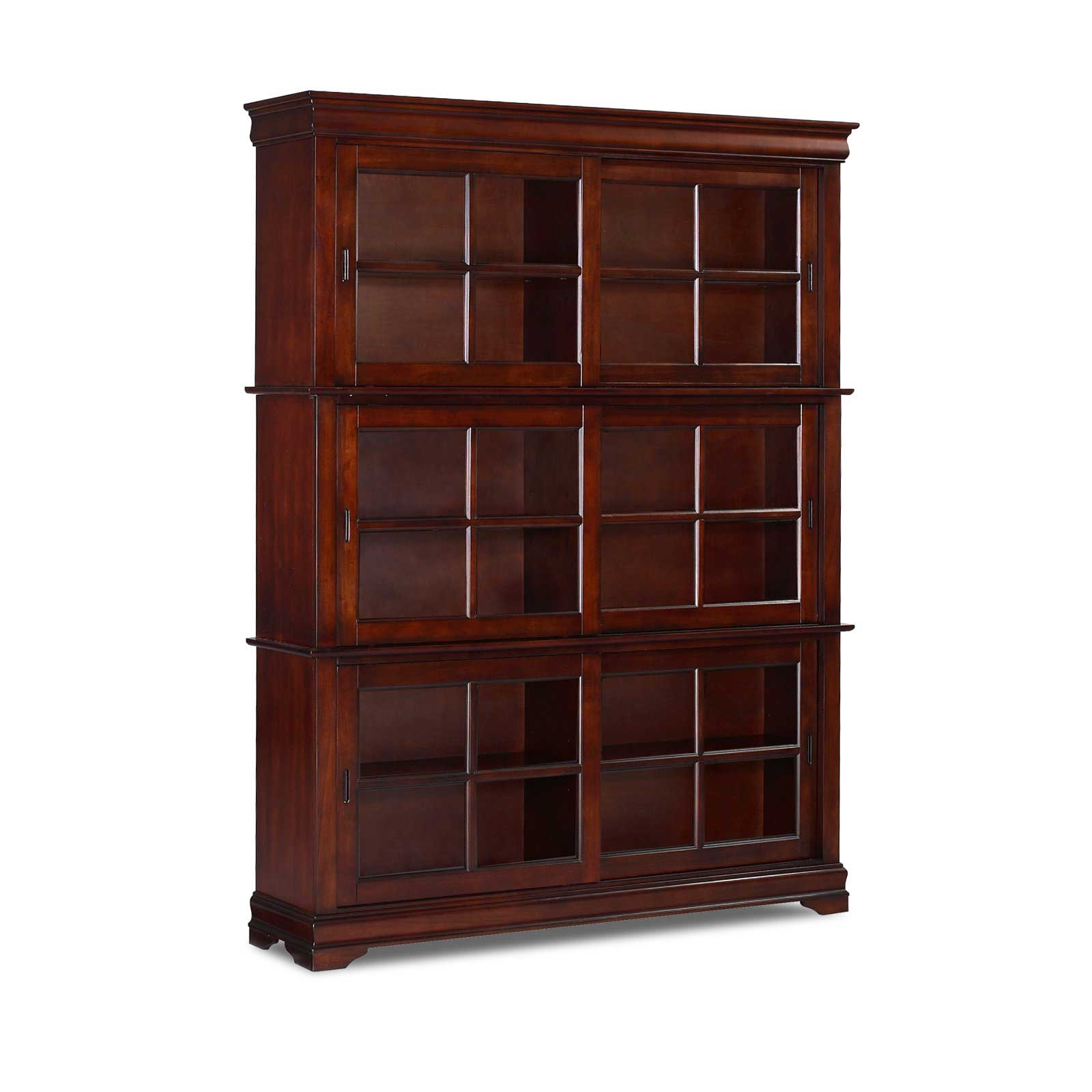 Dijon II Sliding Door Cherry Barrister Bookcase