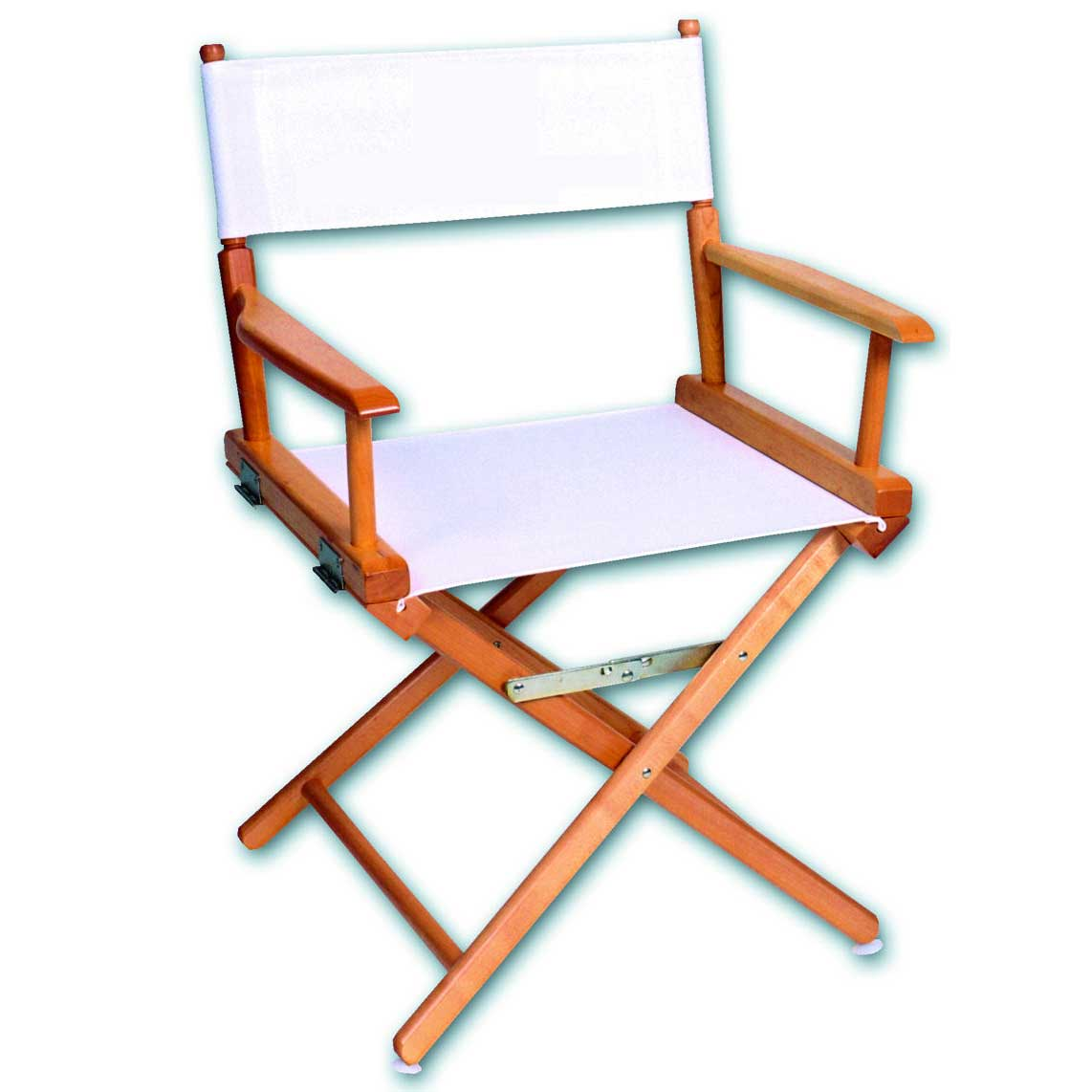Hardwood white cheap directors chair