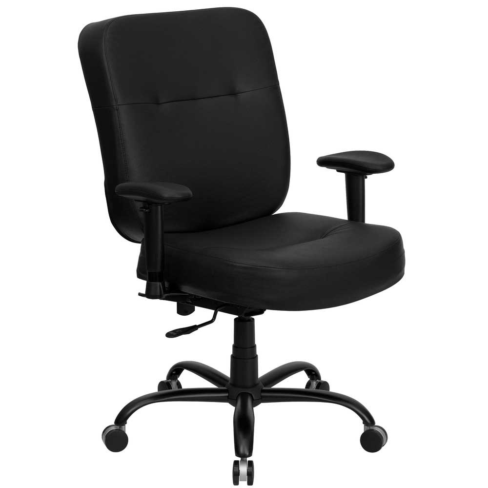 Hercules tall and big office chair in black leather