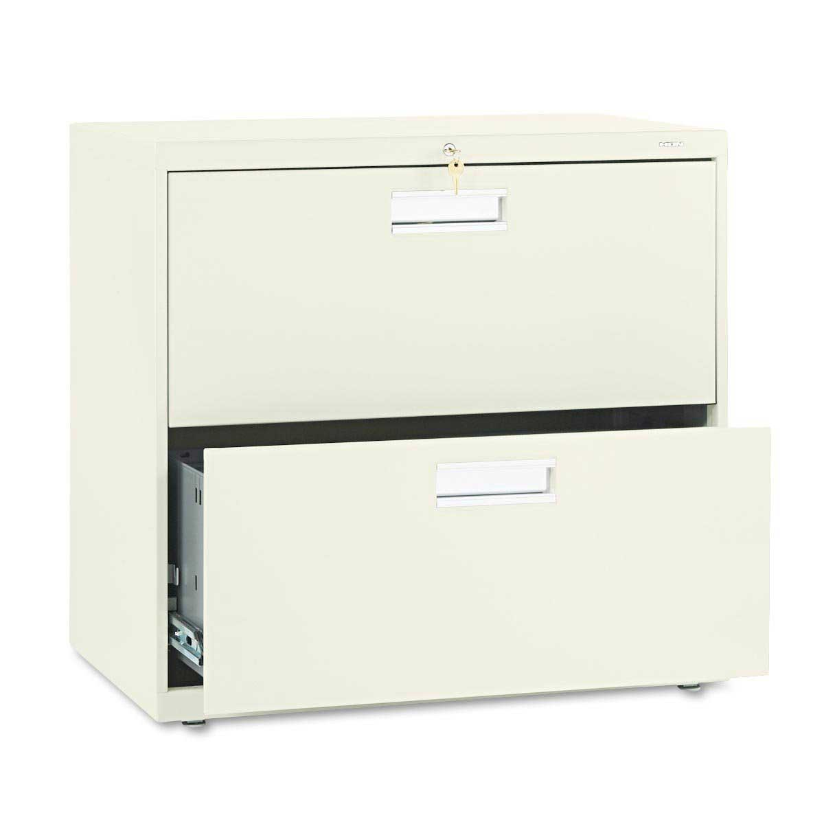 Hon Two Drawer White Lateral Document Storage