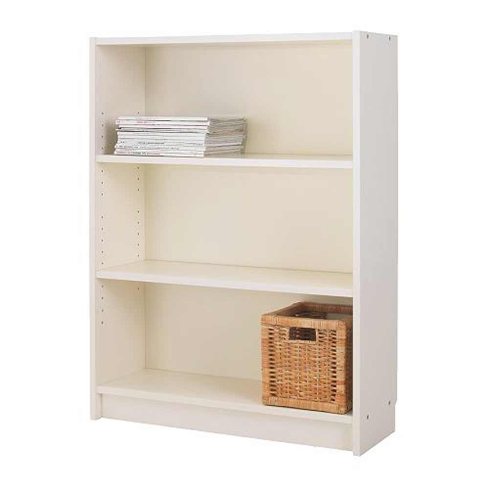 IKEA Billy White Bookcase with 3 Adjustable Shelves